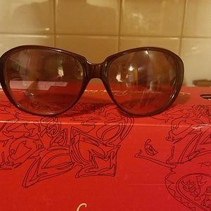 Derek lam burgundy front sunglasses